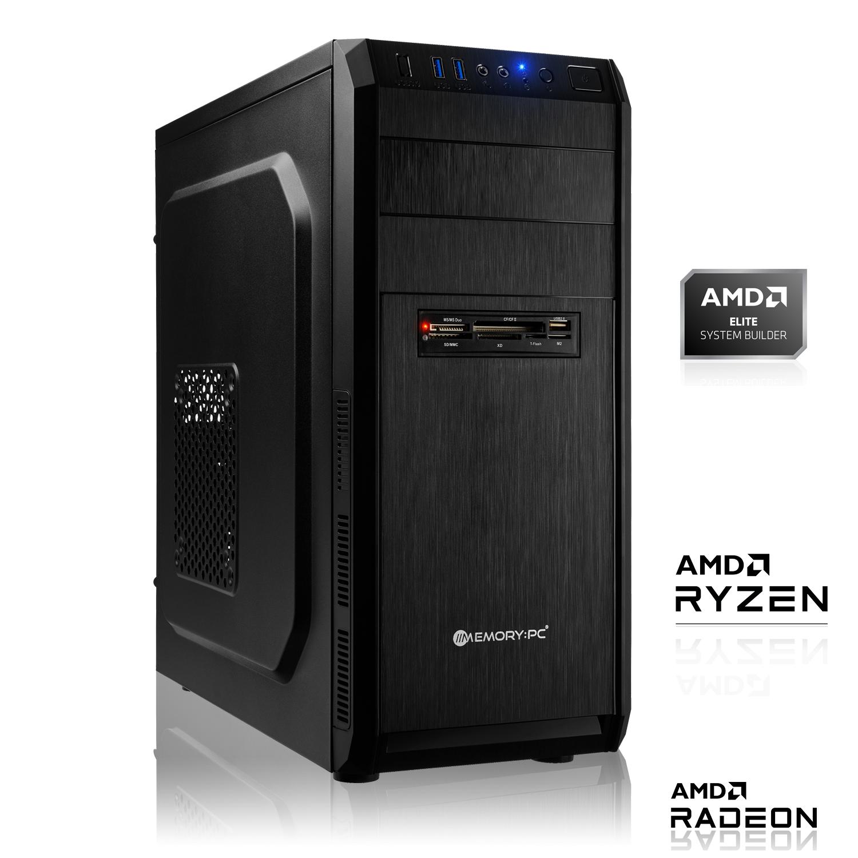 PC fixe Midi-Tower Black V2 - AMD Ryzen 3 4300GE, 8 Go de Ram, SSD 120 Go