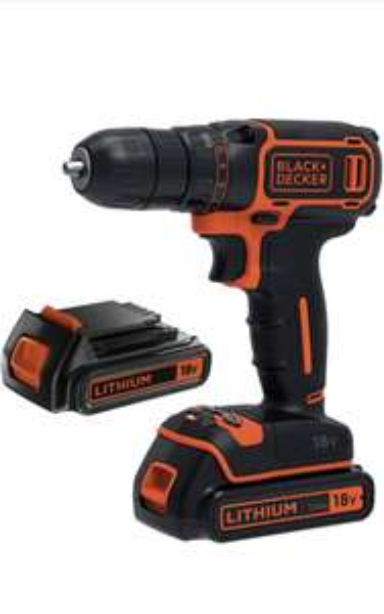 Perceuse-visseuse sans fil Black+Decker BDCDC18B-QW - 30Nm, 18V, 2 batteries 1.5Ah + 1 chargeur 400mA