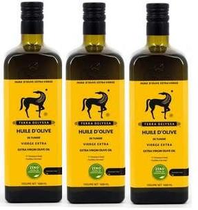 Lot de 3 Bouteilles d'huile d'olive vierge Extra Terra Delyssa - 3x 1.5 L