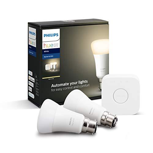 Kit de Démarrage Philips Hue - Pont + 2 Ampoules White B22 (Frais d'importation inclus)