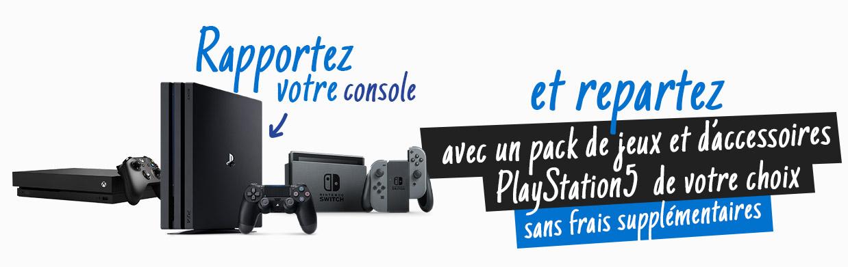 Sélection de packs de jeux & accessoires offerts, en réduction ou avec avoir pour l'échange d'une PS4 / PS4 Pro, Switch ou Xbox One S/X