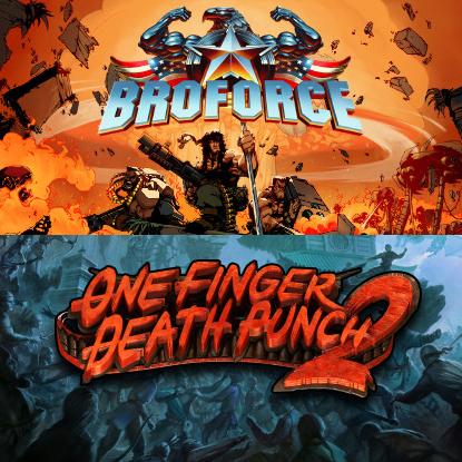 One Finger Death Punch 2 offert dès 2€ d'achat - Ex: Broforce + One Finger Death Punch 2 sur PC (Dématérialisés - Steam)