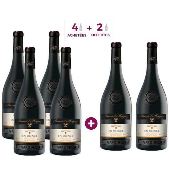 Lot de 6 bouteilles de vin rouge En silence Saint-Chinian Bernard Magrez 2019 (6 x 75 cl)
