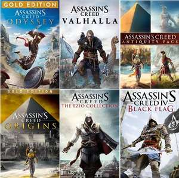 Sélection de jeux Assassin's Creed sur Xbox en promotion. Ex: Assassin's Creed Origins Gold Edition (Dématérialisé - Store BR)