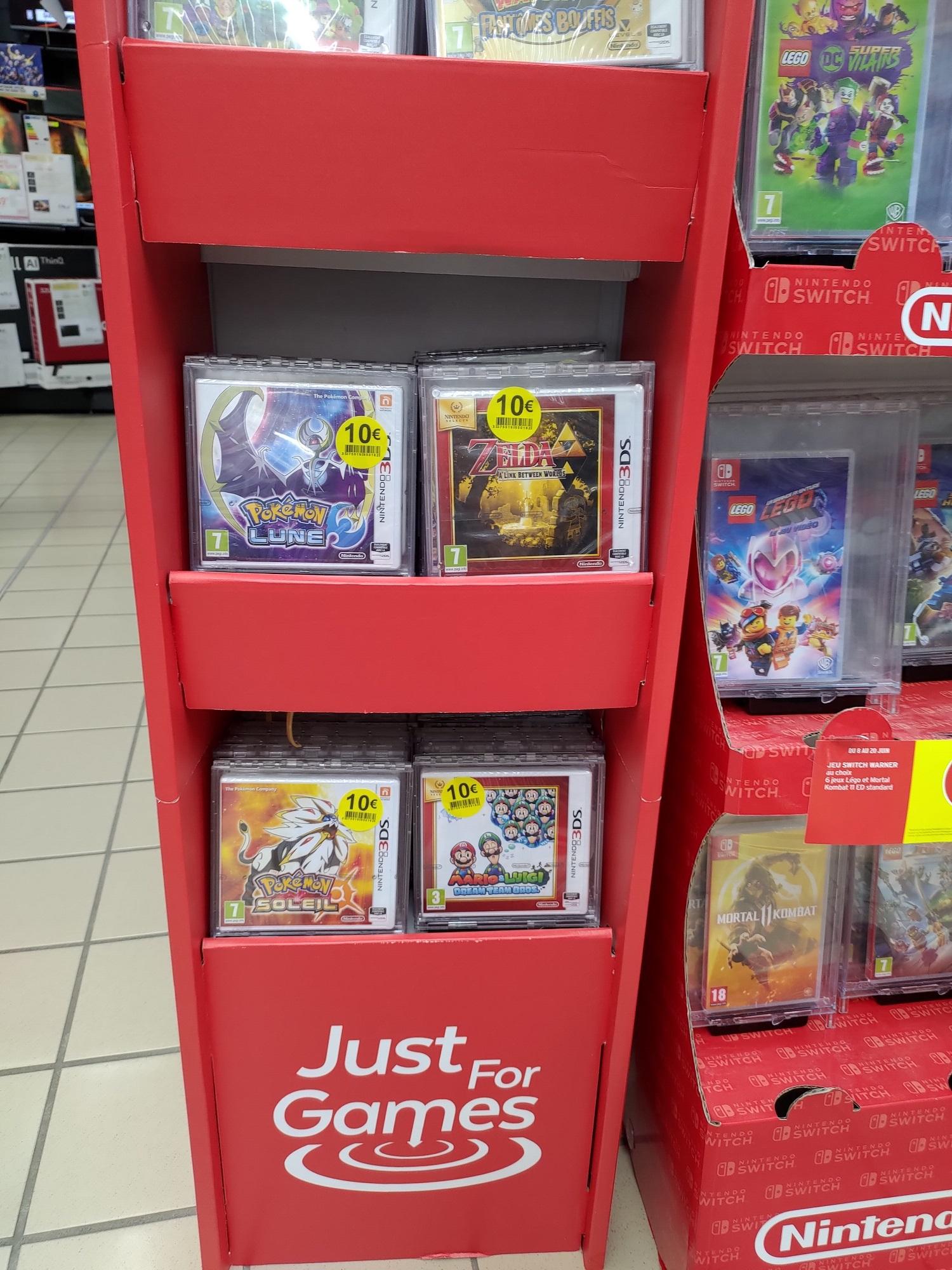 Sélection de jeux Nintendo 3DS en promotion - Ex : Zelda a Link Between Worlds ou Pokémon Soleil - Maîche (25)