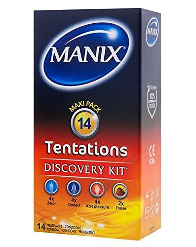 Paquet de 14 préservatifs Manix Tentations