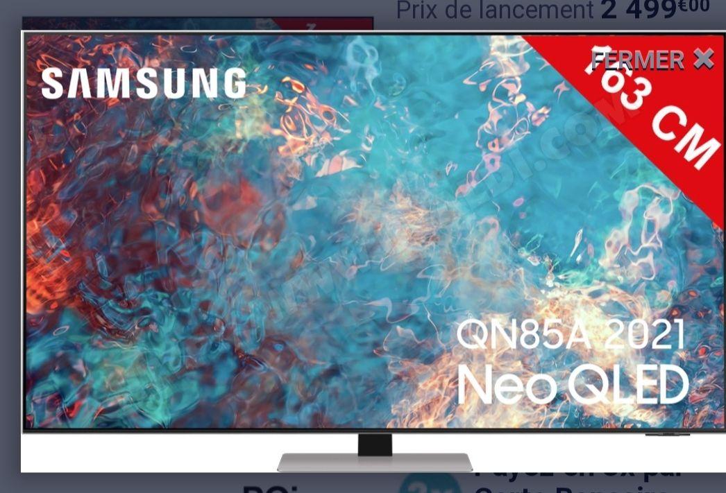 """TV 65"""" Samsung Neo QE65QN85A - 4K UHD, QLED, Smart TV (Via ODR de 300€)"""
