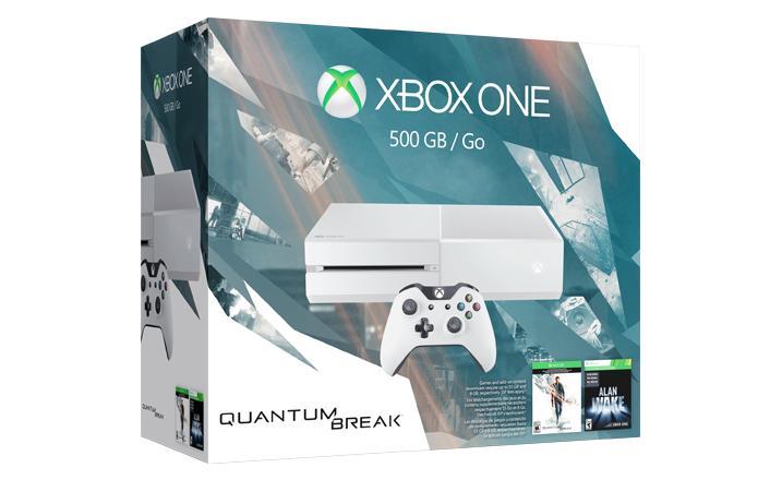 Pack console Xbox One (500 Go, blanche) + Quantum Break (+ steelbook) + 2ème Manette + Forza Motorsport 6 (dématérialisé)
