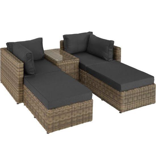 Canapé de jardin SAN DOMINO 4 Places modulable TECTAKE (Vendeur Tiers)