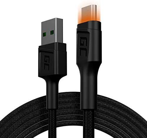 Câble Micro USB GreenCell Ray LED - 2M (Vendeur Tiers)