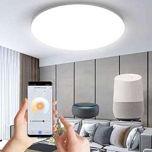 Plafonnier LED connecté Anten - WiFi, 24W, 1920 lumens, Compatible Alexa & Google Home (Vendeur tiers)
