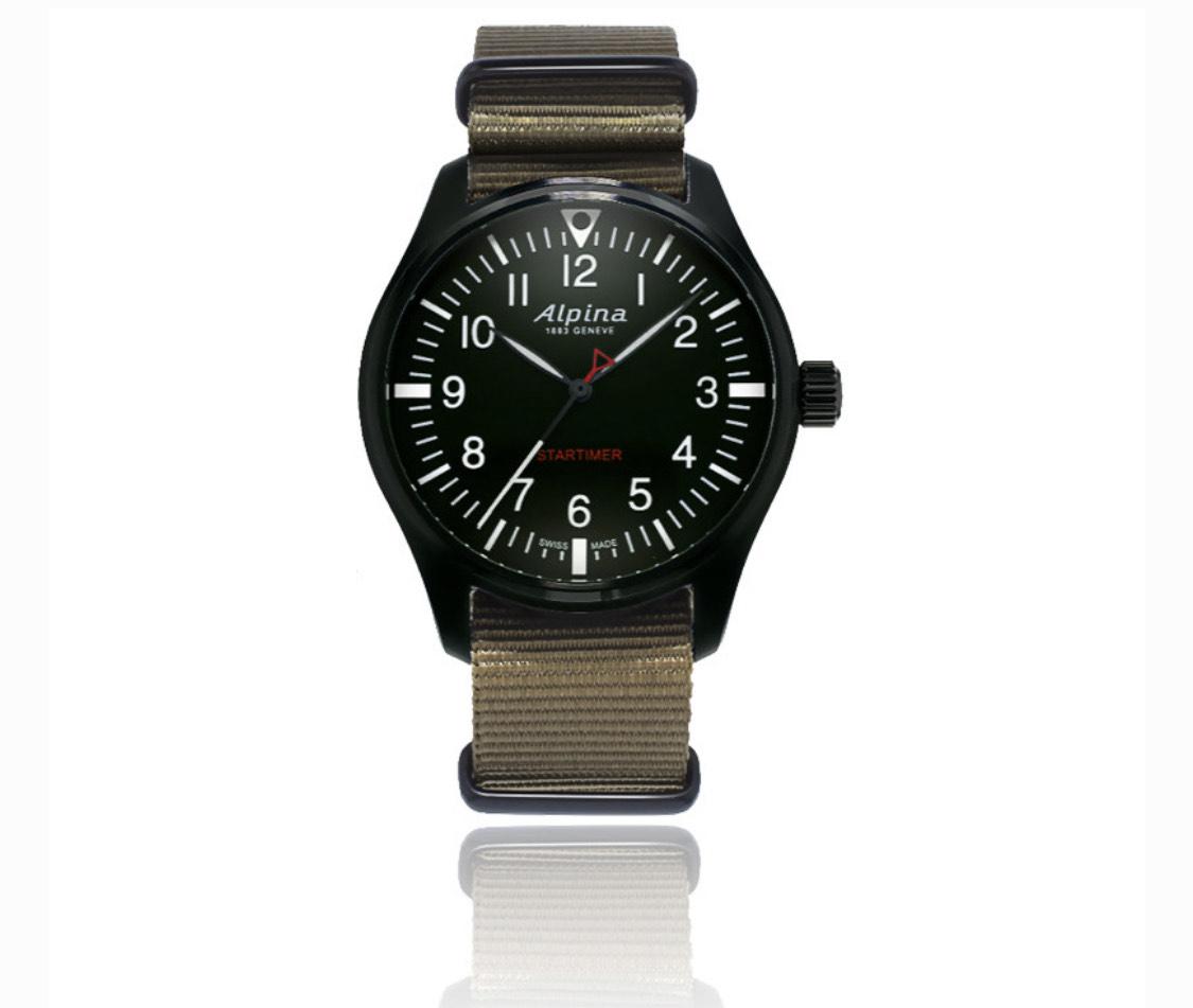 Montre quartz Alpina Startimer Pilot Professional AL-235B4FBS6 pour Homme - 42mm