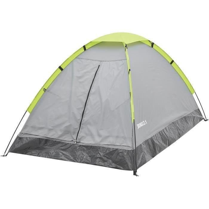 Tente de camping Surpass Dôme - 2 Personnes (Vert & Gris)