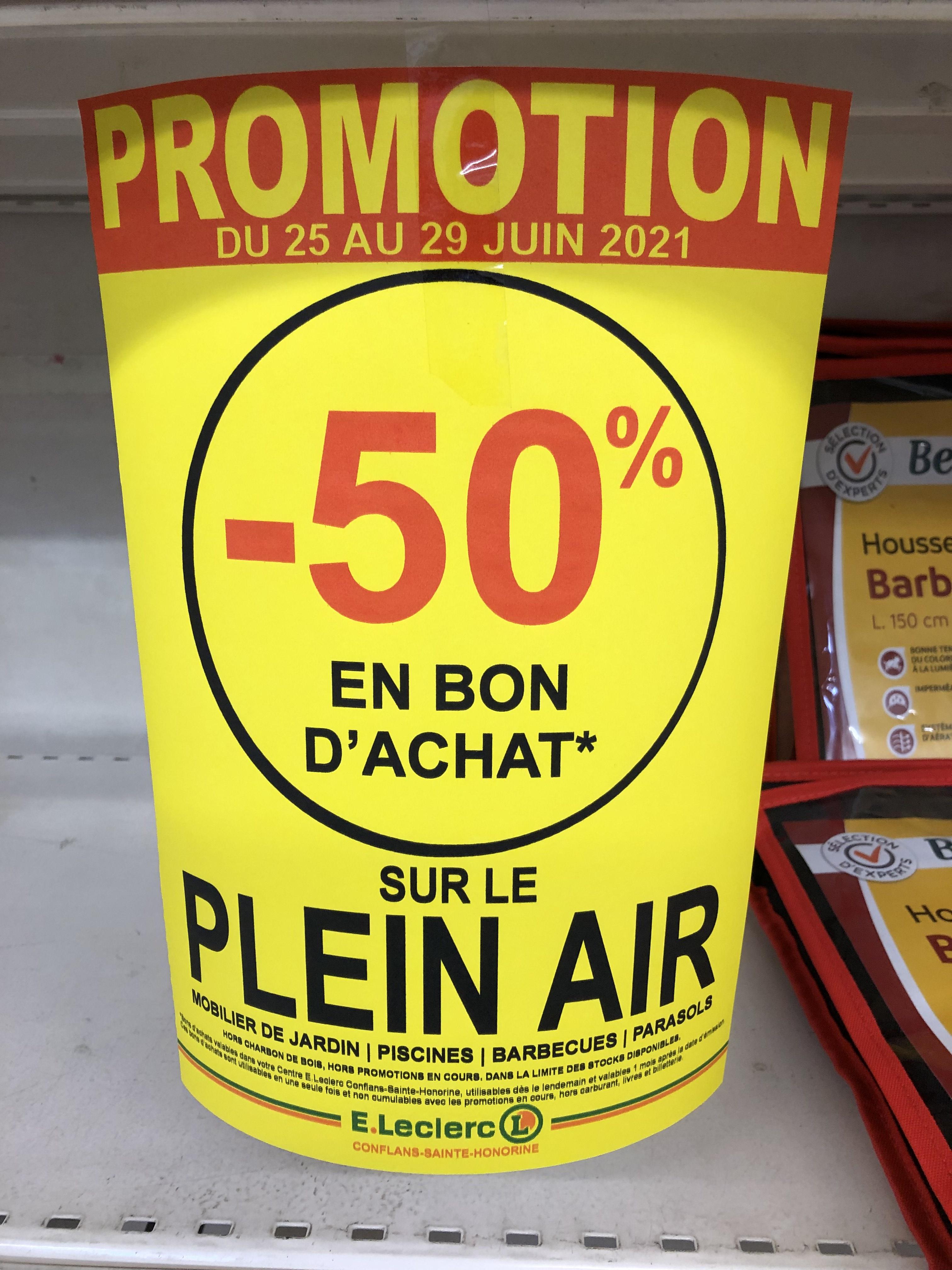 30% offerts en bon d'achat sur le plein air -- Conflans-Sainte-Honorine (78)