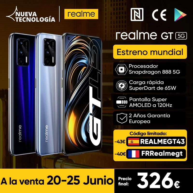 """Smartphone 6.21"""" Realme GT 5G - 8 Go de RAM, 128 Go"""