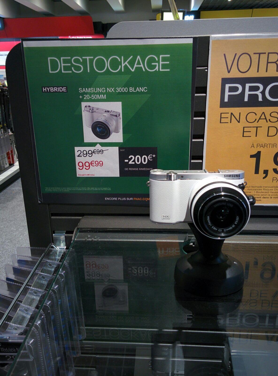 Appareil photo Samsung NX 3000 Blanc + Objectif 20-50mm