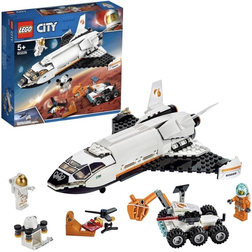 Jeu de construction Lego City 60226 - La navette spatiale avec rover et drone