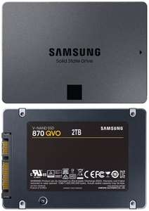"""SSD interne 2.5"""" Samsung 870 QVO (QLC) - 2 To (1To à 79,99€ - Frontaliers Allemagne)"""