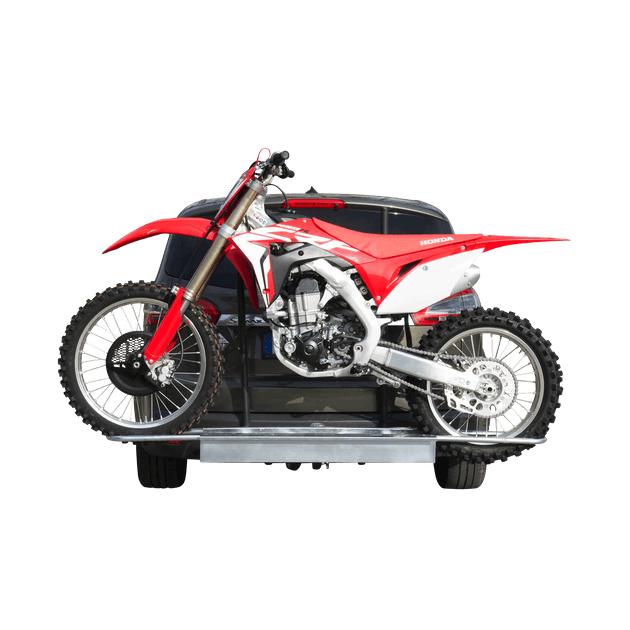 Porte-moto Rail Proworks sur attelage de véhicule