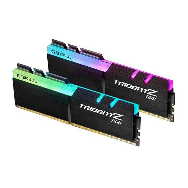 Kit mémoire RAM G.Skill Trident Z RGB - 32 Go (4 x 8 Go), DDR4, 3200 MHz, CL16