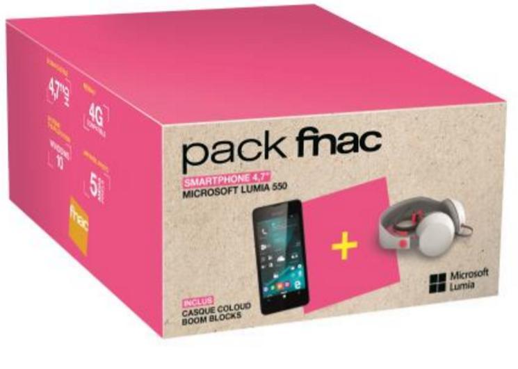 "Pack Smartphone 4.7"" Microsoft Lumia 550 8 Go + Casque Coloud Boom Blocks"