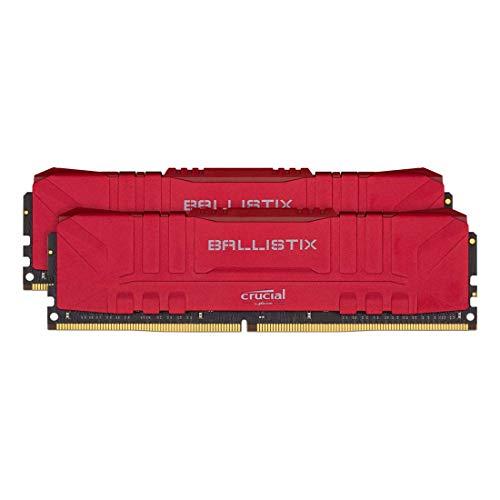 [Prime] Kit Mémoire RAM Crucial Ballistix BL2K8G30C15U4R - 16 Go (2 x 8 Go), DDR4, 3000 MHz, CL15