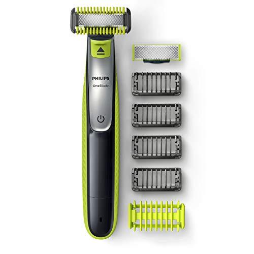 [Prime] Tondeuse Visage & Corps Philips OneBlade QP2630/30 + Protection Zones Sensibles (2 Lames + 4 Sabots barbe + Sabot corps)