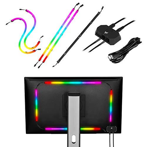 [Prime] Kit de démarrage bandes LED d'ambiance Corsair LS100 RGB Starter Kit