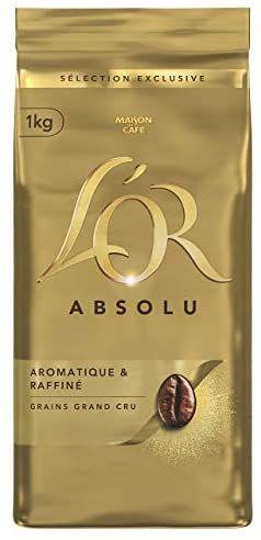 [Prime] Lot de 4 paquets de café en grains l'Or Absolu - 4 x 1 kg