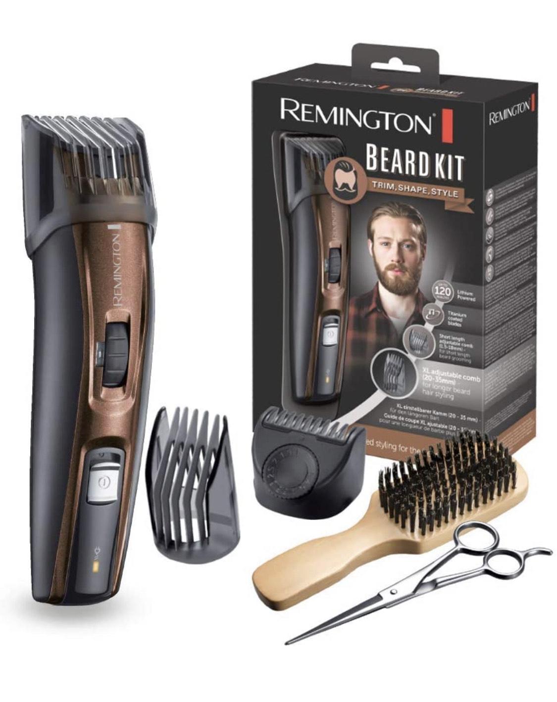 [Prime] Coffret rasage Remington MB4046 - Tondeuse Barbe, Lames Titanium Auto-Affûtées, Sabots Ajustables