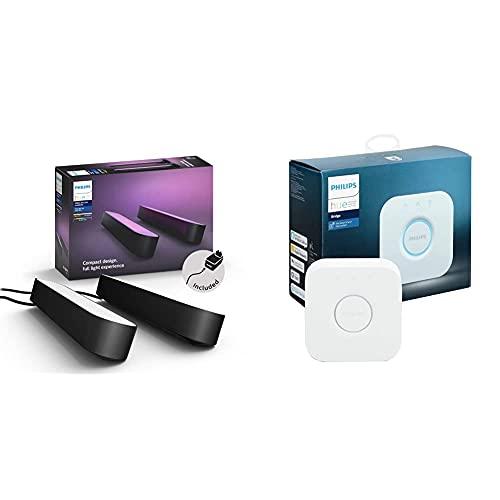 [Prime] Pack de 2 lampes connectées Philips Hue White & Color Ambiance Play + Pont de connexion