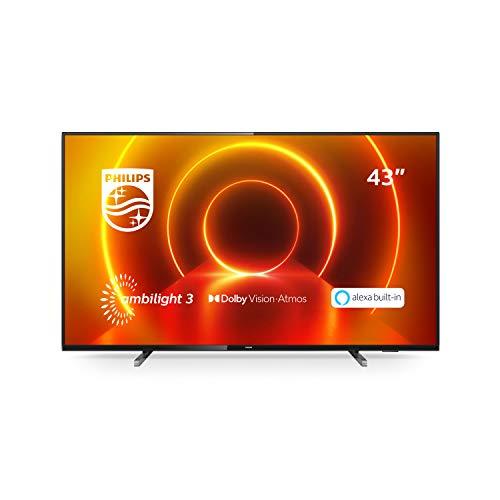 """[Prime DE] TV LED 43"""" Philips 43PUS7805 - 4K UHD, HDR10+, Smart TV, Ambilight 3 côtés (2020)"""