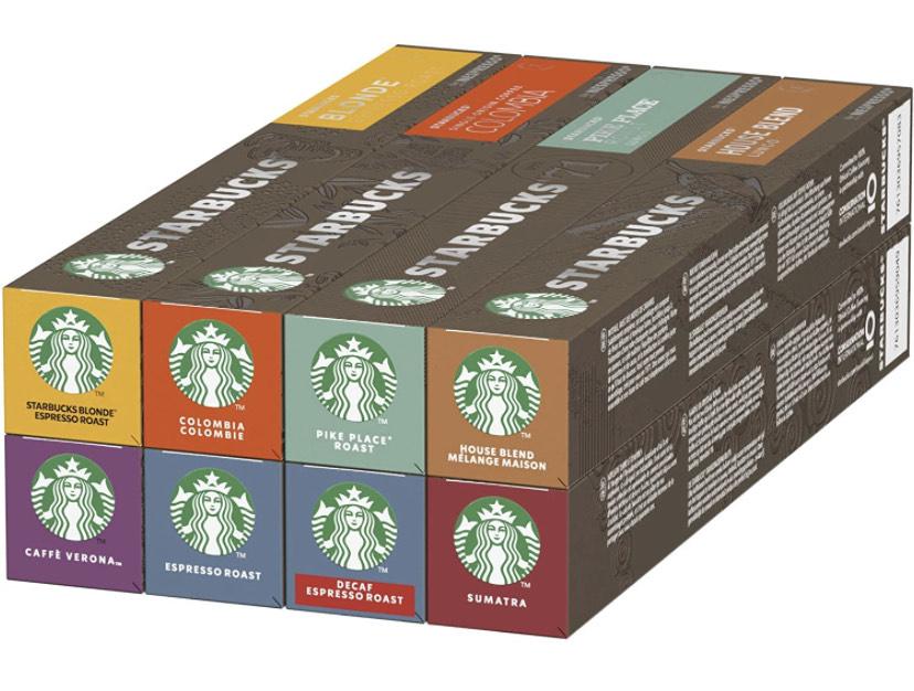 [Prime] Pack Starbucks Variété 8 Goûts différents By Nespresso - 8 x 10 capsules