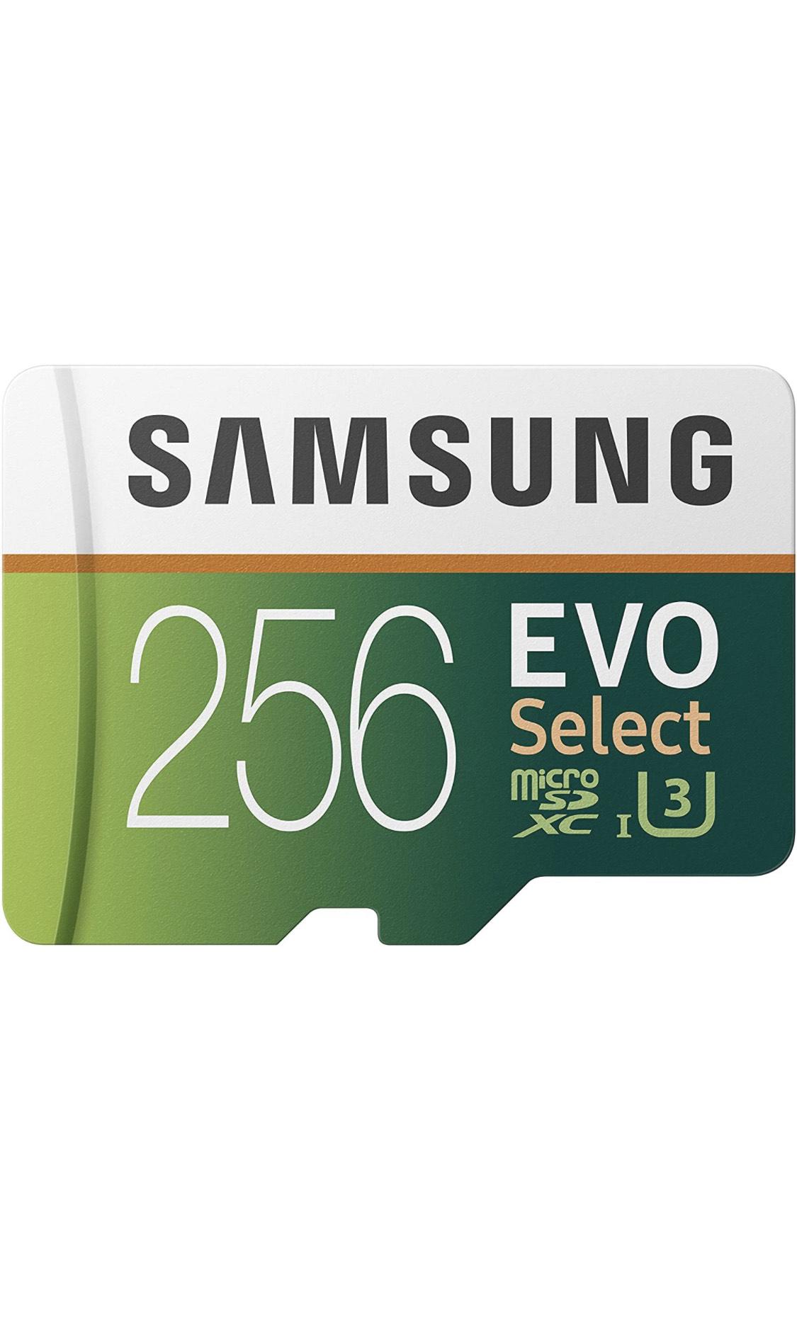 [Prime] Samsung 256 GO Carte microSDXC Samsung Evo Select UHS-I U3 (MB-ME256HA/EU) - 256 Go