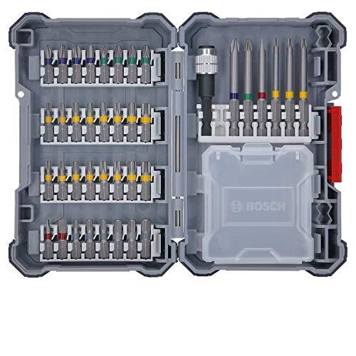 [Prime] Set d'embouts Bosch Professional - 40 Pièces (Pick&Click, Embouts de Vissage Extra-Durs, avec porte-embout)