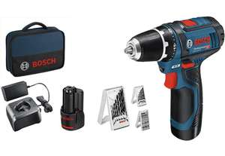 [Prime] Perceuse-visseuse sans fil Bosch Professional 12V GSR 12V-15 (+ 2 batteries 2Ah + chargeur + set d'accessoires 39 pièces)