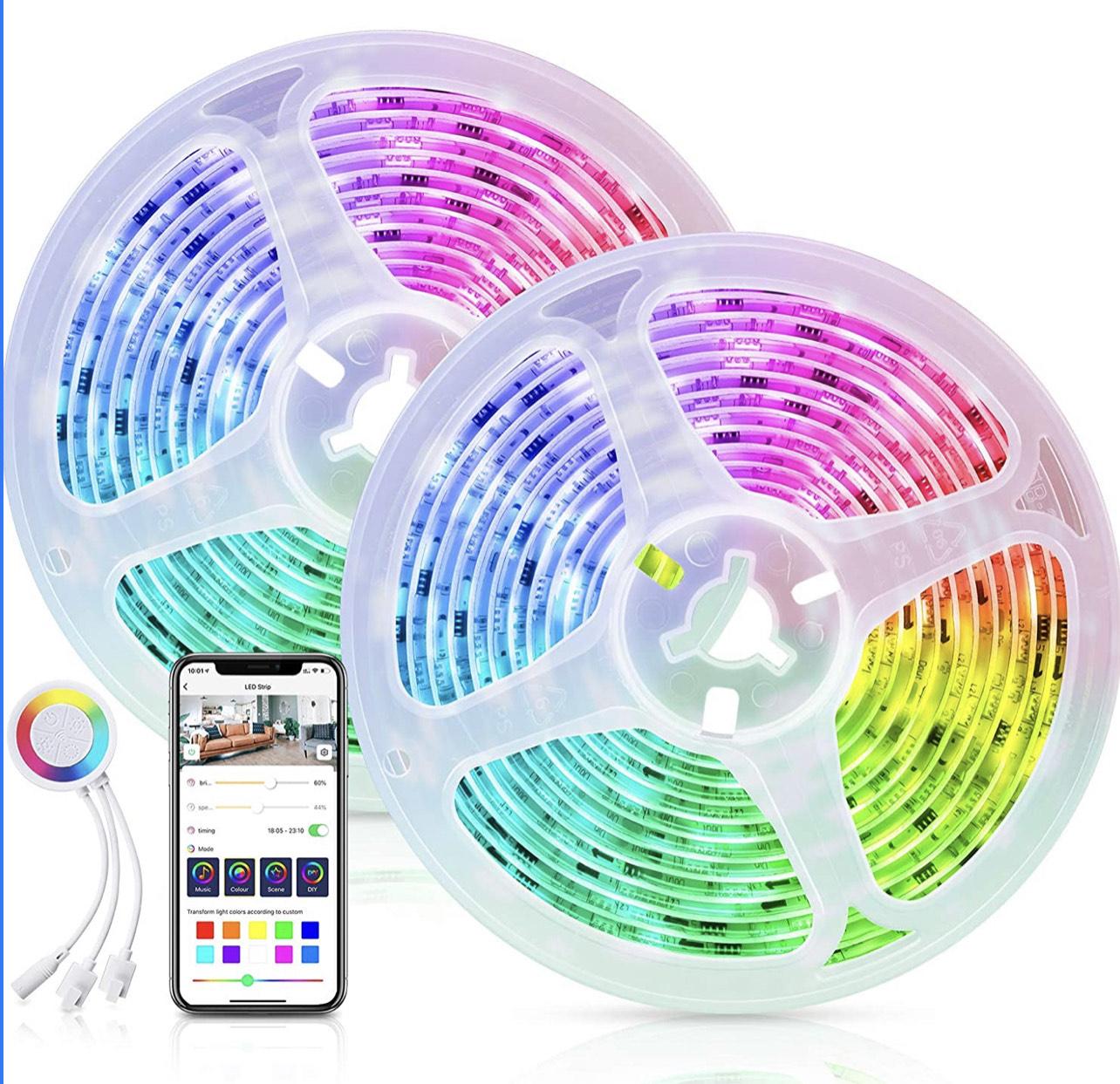 Ruban LED Maxcio Dreamcouleur 10m - Couleur par segmentation, WiFi (Vendeur tiers)