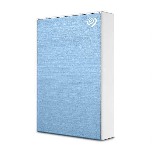[Prime] Disque dur externe Seagate One Touch 4To - Bleu clair, USB3.0 + Abonnement de 4 mois à la formule Adobe Creative Cloud