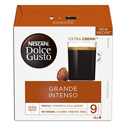 [Prime] Lot de 6 Boites de 16 Capsules de café Nescafé Dolce Gusto Grande Intenso (96 Capsules)