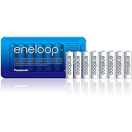 Pack de 8 piles rechargeables Panasonic Eneloop AA (LR6) 1900mAh
