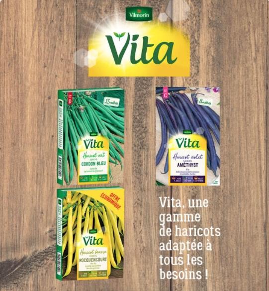 Paquet de graines d'haricots Vilmorin Vita gratuit - 100% remboursé (via Shopmium)