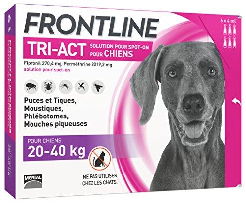 [Prime] Anti-puces et anti-tiques Frontline TRI-ACT pour Chien - 20-40kg, 6 pipettes