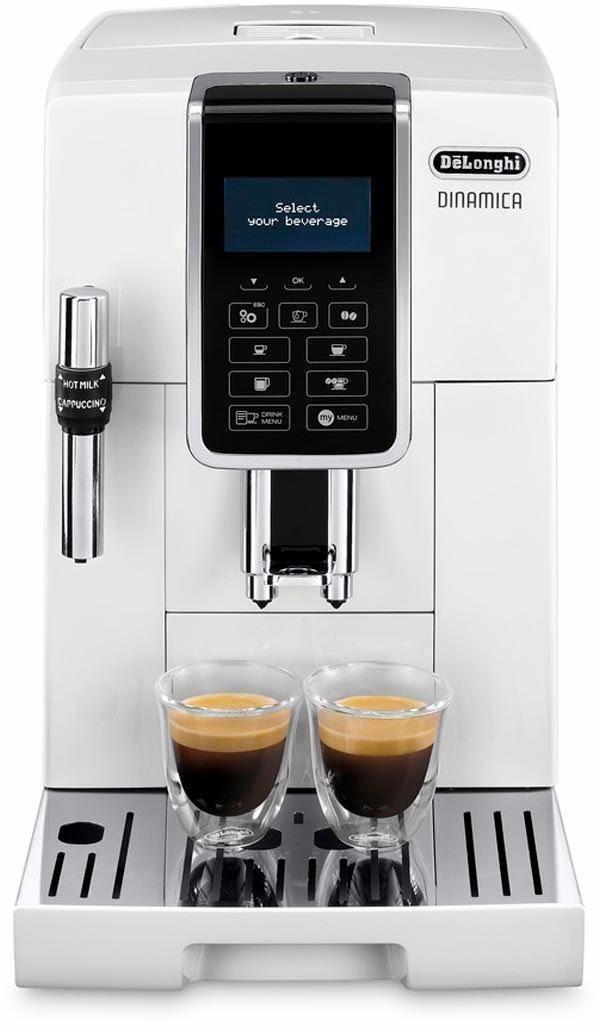 Machine à expresso automatique avec broyeur de grains De'Longhi Dinamica ECAM 350.35.W