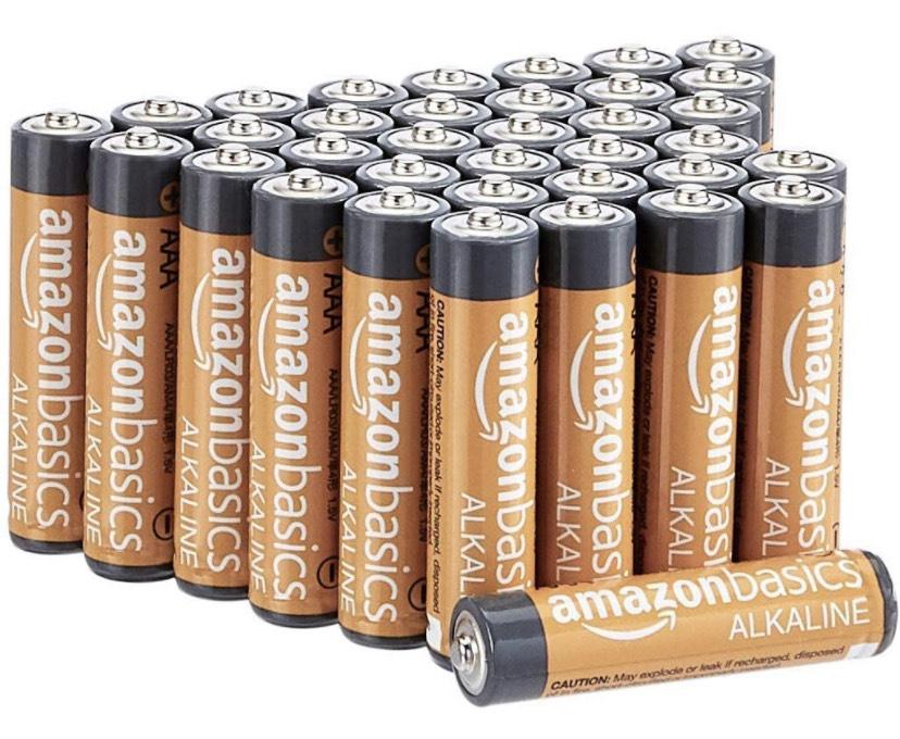 Lot de 36 piles alcalines Amazon Basics AAA 1,5V