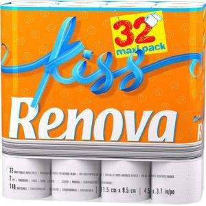 Papier hygiénique Renova Kiss - 32 rouleaux (avec 70% sur la carte)