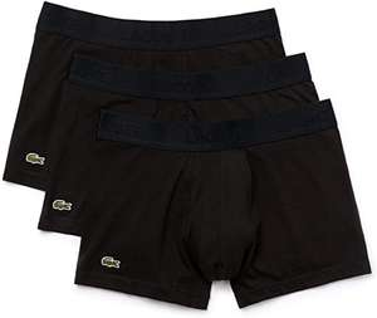 [Prime] Lot de 3 Boxers Lacoste - Noir (Taille XS)