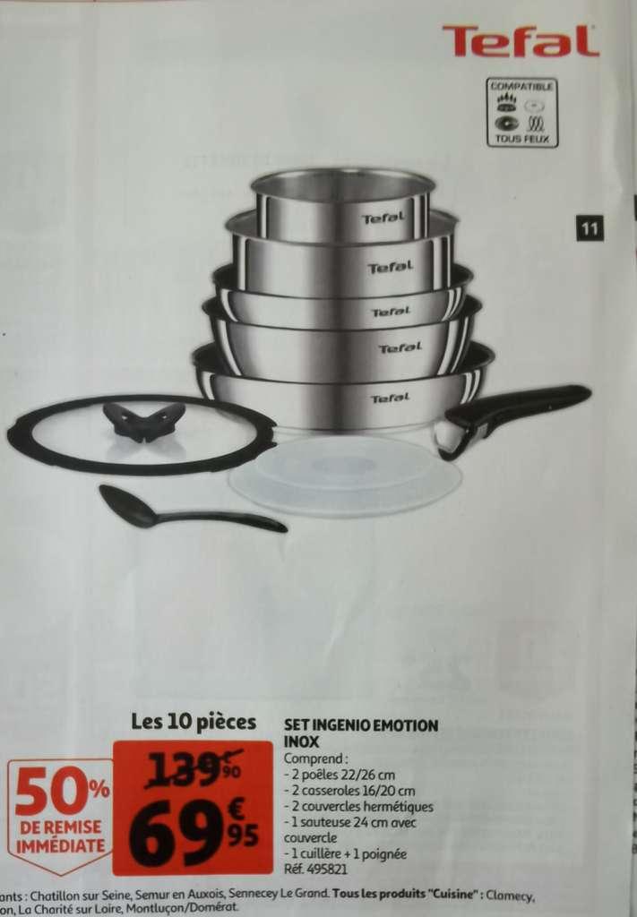 Batterie de cuisine Tefal Ingenio Emotion - 10 pièces
