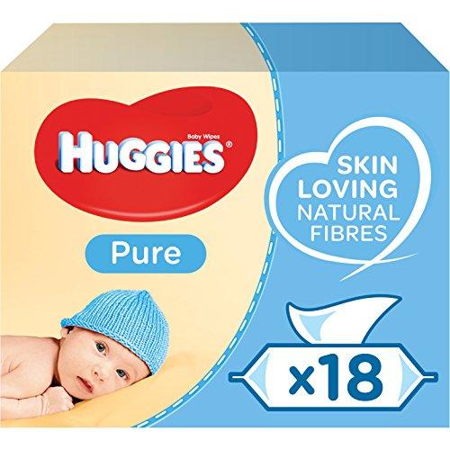 [Prime] Lot de 18 paquets de 56 lingettes bébé Huggies