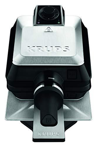 [Prime] Gaufrier rotatif Krups FDD95D10 - 1200W, Gaufres Dorées, Plaques amovibles et antiadhésives