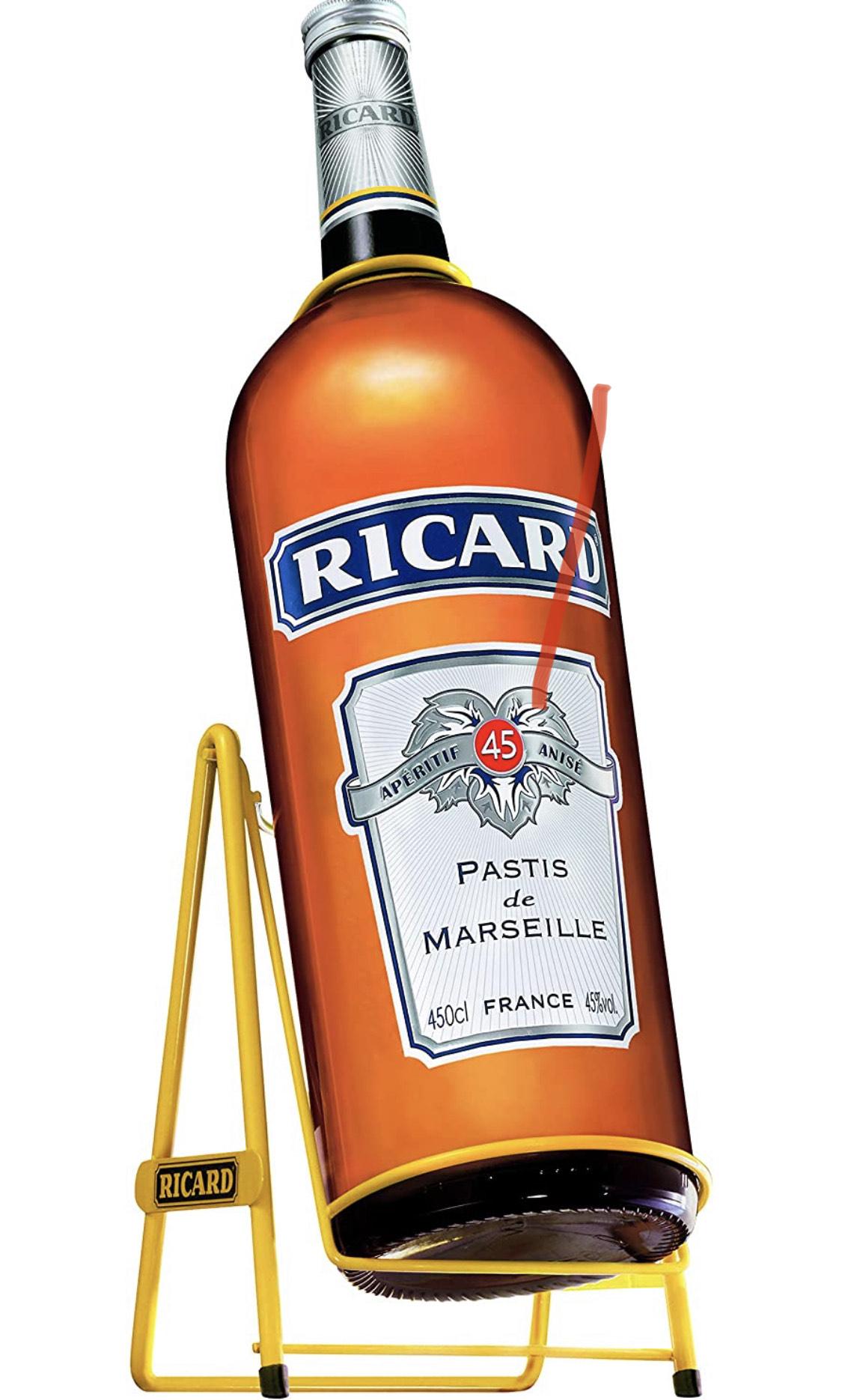[Prime] Bouteille de pastis de Marseille Ricard - 4.5 L + Balancelle